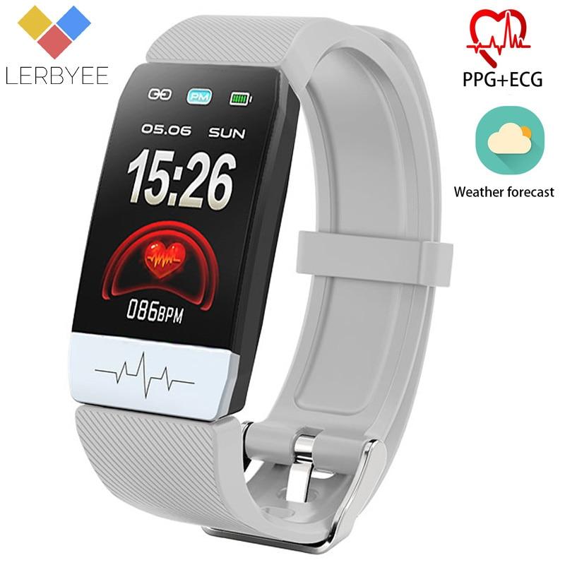 Relógio Inteligente Q1S Lerbyee ECG + PPG Relógio de Fitness do Bluetooth Smartwatch Chamada Lembrete Despertador À Prova D' Água para a Execução de Escalada