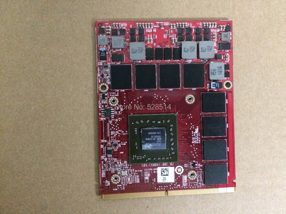 FOR AMD 216-0843006 FirePro M6100 2GB GDDR5 128-bit Mobile Graphic Card 0K5WCN CN-0MG0X9 0MG0X9 fully tested & working perfect