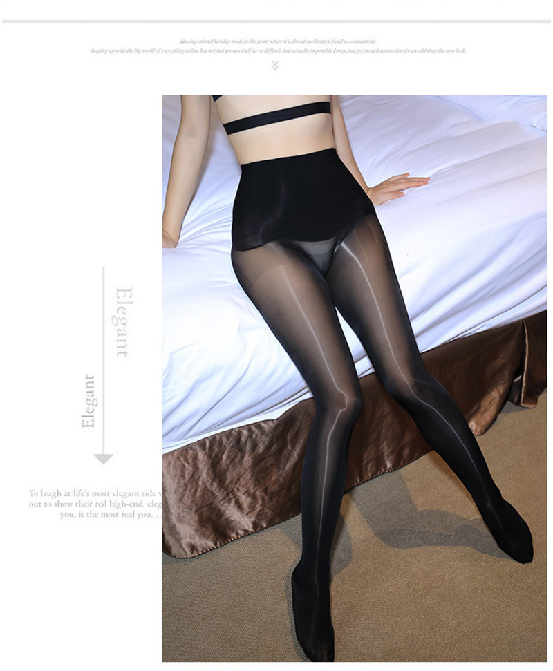 Smoothly Magic High Waist Pantyhose, Shiny Than Oil Glossy 8D Ultrathin Seamless Crotch Tights Transparent 23