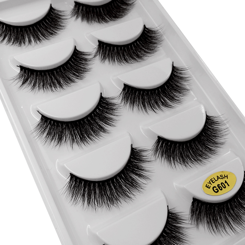 Image 3 - Sexy 5 Pairs mink eyelashes natural long 3d mink lashes hand made false eyelashes 3d lashes eyelash for makeup maquiagem G800-in False Eyelashes from Beauty & Health