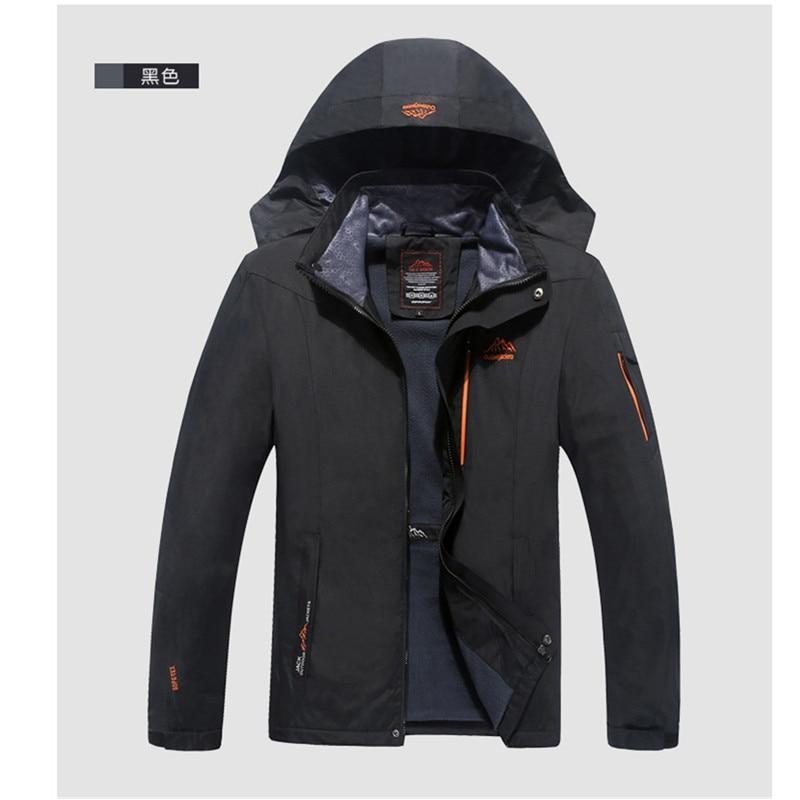 ФОТО Dropshipping New outdoor men camping jackets windstopper waterproof rain warm winter softshell clothing softshell hiking jacket