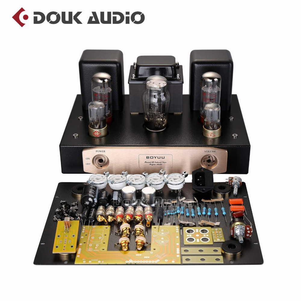 2018 Latest Upgrade EL34 Vacumm Tube Amplifier Single-ended Class A HiFi Stereo Power Amp Full DIY KIT 24W Beginner Level