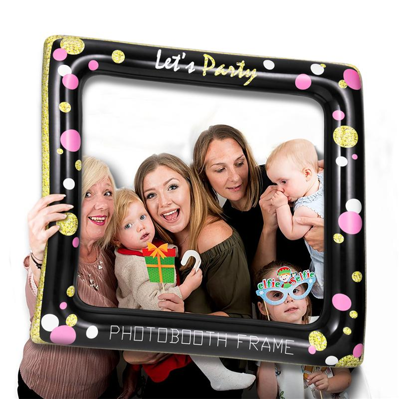 Inflatable Frame Photo Booth Props Selfie Picture Frame Festive
