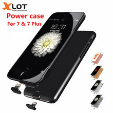 Xlot Ultra-thin slim Battery Charger case for iPhone7 8 Power casePortable External Battery Power bank Case for iPhone7 8Plus