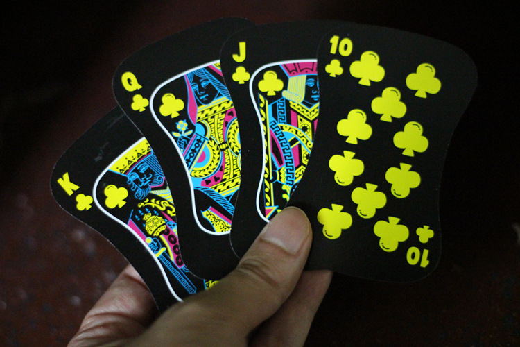 Poker Playing Card Black with Colorful Print for KTV Party Game