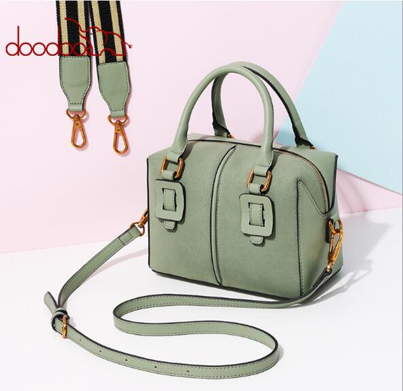 DOODOO Women PU Leather Bags Ladies Handbags Shoulder Bag High Quality Designer Luxury Brand Boston Crossbody Bag bolsas FR613 high quality pu leather sac a main women tote boston handbags luxury designer vintage ladies s shoulder bags crossbody doctor