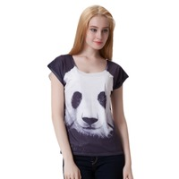 Women Short Sleeve Animal Stretchy Digital 3D Printed T Shirt 2016 Summer Funny Ladies Top Tees
