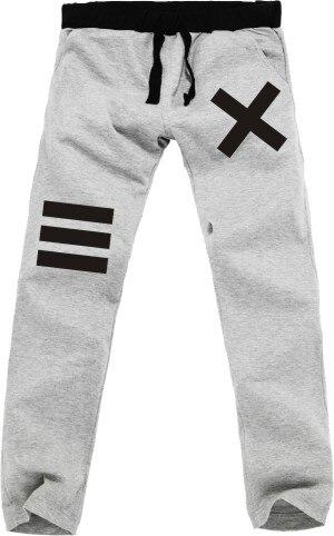 Hombres pantalones largos capucha adolescente letra X XXX logo chicos cool impresionante nueva moda loose hip hop patineta bailarina regalo actividad de ventas