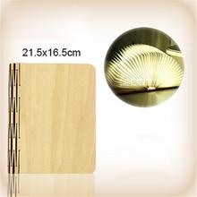 Portable Folding LED Book Design Wooden Material Light Reading Lamp Bedroom Pendant USB Rechargeable 3.7V 5W Hot Sale