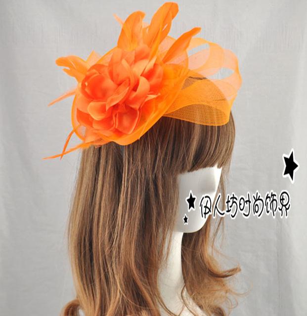 Acessórios de cabelo adulto ou chapéus coloridos Sexy de noiva de moda mulher Fascinator acessórios de cabelo
