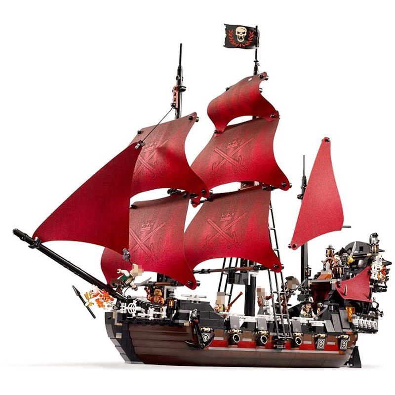 1151pcs Diy Compatible With Legoingly Bricks Pirates Of The Caribbean Model Queen Anne's Reveage Building Toys For Children Gift 2017 new toy 16009 1151pcs pirates of the caribbean queen anne s reveage model building kit blocks brick toys