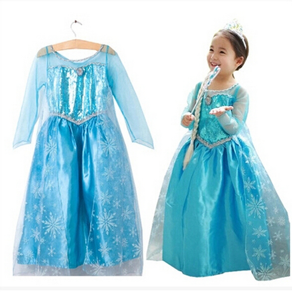 New Baby Girls Princess Dresses Birthday Party Costume Children Easter Dresses Clothes Kids Robe Spring Clothing Drop Shipping