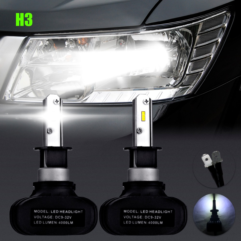 2PCS H3 Led Car Light Fog Led High Power Lamp 6Smd Auto Car Led Bulbs Car Light Source Parking 12V 6000K Headlight Lamp 2pcs h11 led high power 7 5w car headlight fog lamps auto car led bulbs car light source parking 12v 6000k pure white
