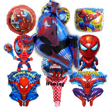 spiderman birthday balloons the avengers toys for baby kids children superhero party decoration foil balloon