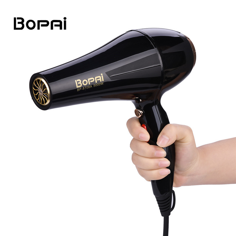 5000W Blow Dryer Professional Negative Ion Hairdryer Double Layer Wind Inlet Blue Light Hair Dryer Styling Tool Reduce Frizz S42 5000w hair dryer blue light anion fast styling blow dryer cold shot ion hairdryer for hairdresser salon