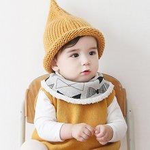 Infants Kids Cartoon Pattern Baby Towel Saliva Winter Warm Waterproof Lunch Bibs Bebe Bib