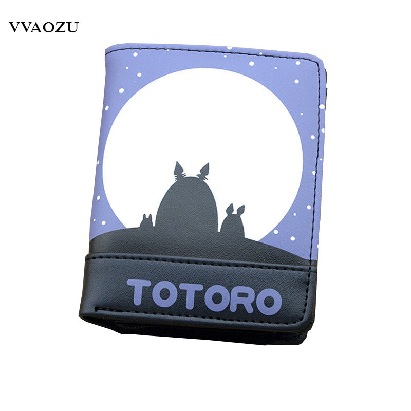My Neighbor Totoro Wallet Cartoon Unisex Billfold Men Women Card Holder with Coin Pocket Short PU Wallets Purse Free Shipping pu short wallet purse with colorful printing of japanese anime tonari no totoro my neighbor totoro