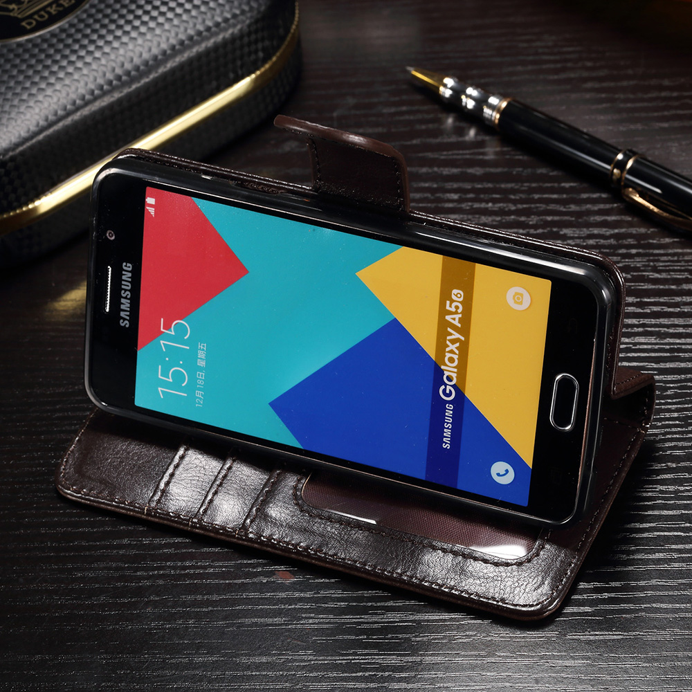 IDOOLS Case For Samsung Galaxy A3 2016 Cover PU Leather Flip Card Holder Phone Bags Cases For Samsung Galaxy A3 2016 A310 A3100