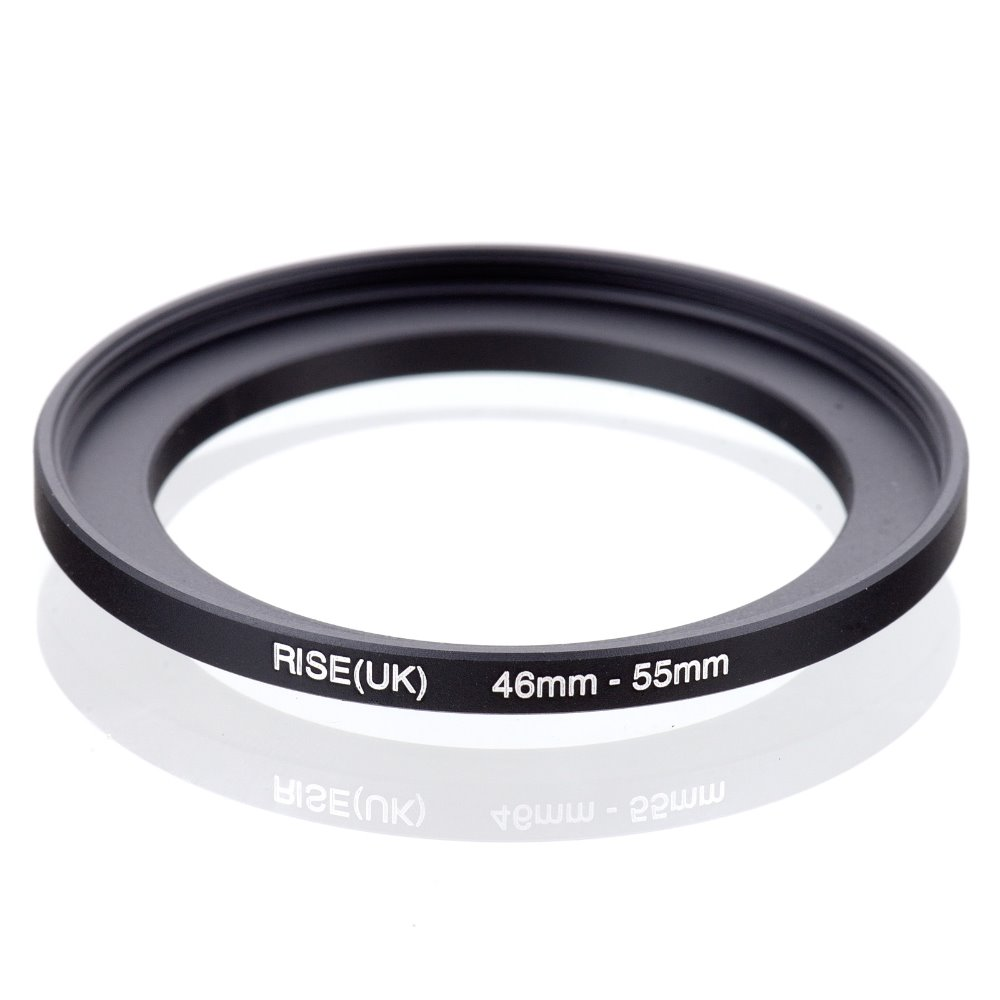original RISE(UK) 46mm-55mm 46-55mm 46 to 55 Step Up Ring Filter Adapter black free shipping