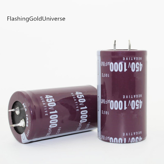 2PCS--20PCS  Electrolytic Capacitors 1000UF 450V 450V1000UF  35X50MM  Best Quality