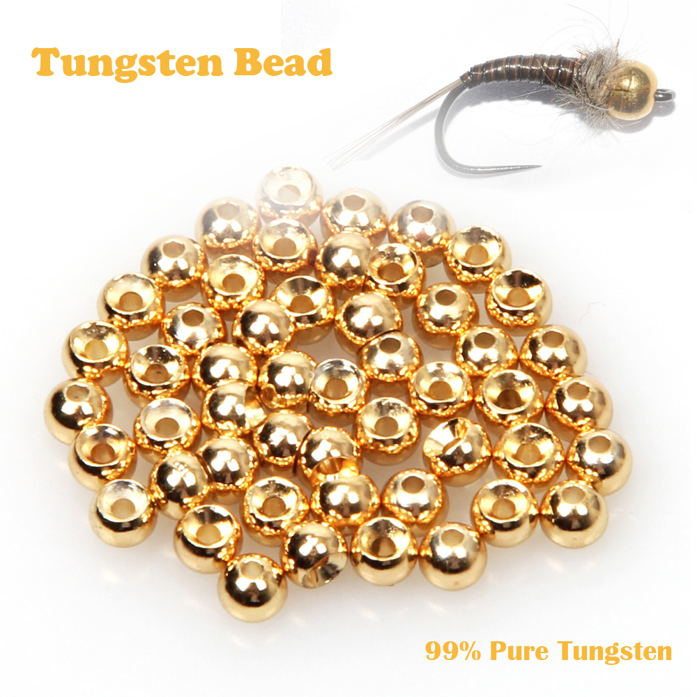 Slotted Tungsten Beads//Silver Pearl//10 piece//FLY TIE materials
