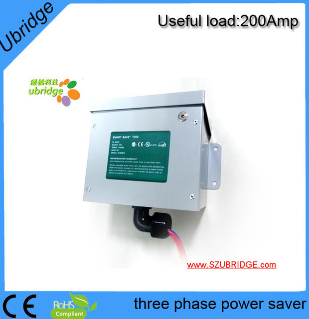 200amp Three phase power saver in industry .energy saver device.electricity saving