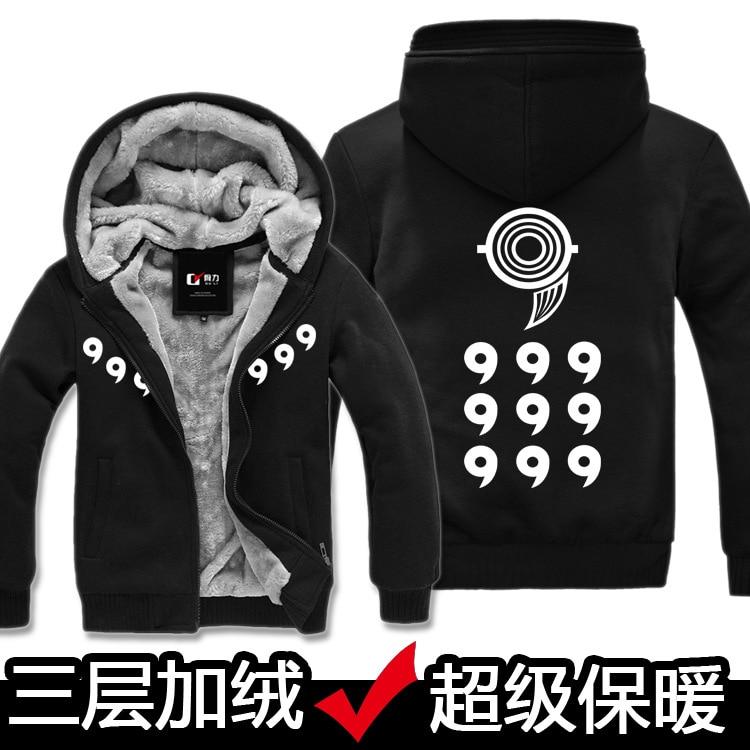 Anime font b NARUTO b font Akatsuki font b Cosplay b font Jacket Sweatshirts Thicken Hoodie