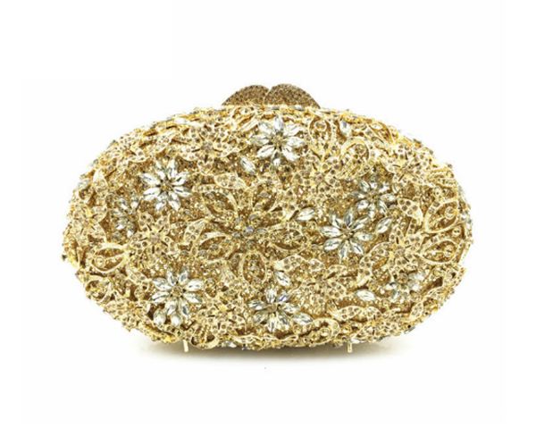 luxury evening clutch bags crystal clutch purse golden diamante women party evening bags handbags for wedding/prom/party подвеска домик 14см дерево в асс те