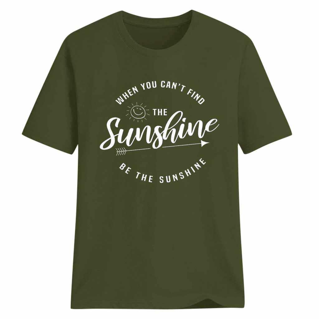 女性の Tシャツサンシャインが見つけるカントときサンシャインカジュアル手紙トップス女性半袖野生 Tシャツ футболка женская