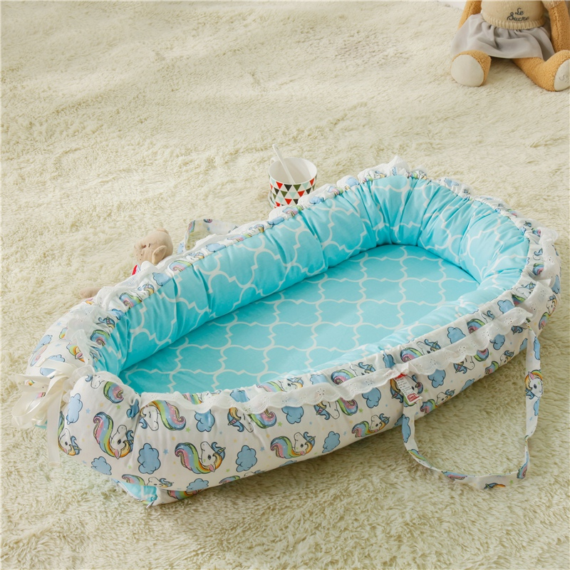 Nursery Bedding Mattresses Baby Bassinet For Bed Portable Baby Lounger For Newborn Crib Breathable And Sleep Nest New