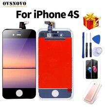 Aaa 品質の液晶 iphone 4 ディスプレイ pantalla iphone 5 タッチスクリーン交換アセンブリ no dead pixel + 強化ガラス & ツール