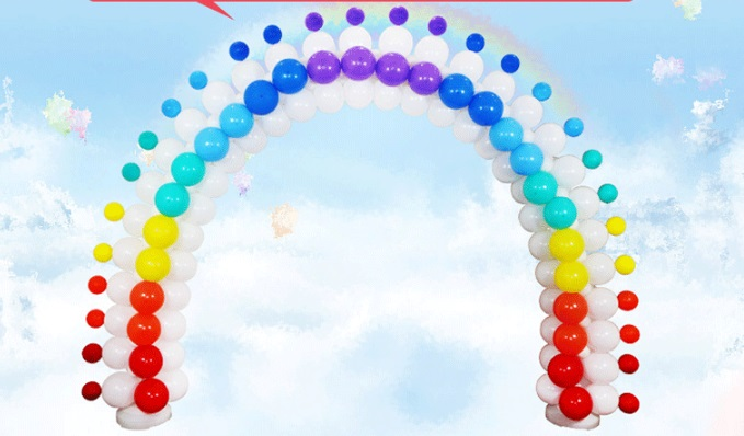 1Set Ballonnen stand Boog Kolom Base voor bruiloft evenementen Decoratieve Ambachten Gadgets Evenementen Feestartikelen - 2