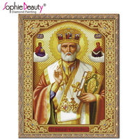 Wholesale DIY Diamond Painting Religion Inlaid Person Paintings Kits Artifials Home Decoration Rhinestone Embroidery AD387