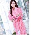 Pijama roupão camisola e outono inverno grossa de flanela de manga comprida coral fleece bonito mulheres de design ocidental YF009