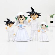 2pcs/set Dragon Ball Z Goku ChiChi Wedding Figures WCF DWC7 PVC Action Figure Toys 11cm Figurines