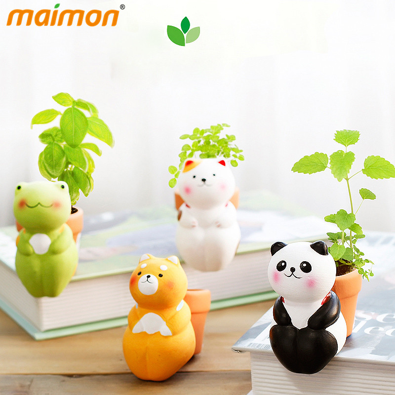 Aliexpresscom Buy Cute DIY Animal Mini Bonsai Indoor Desk