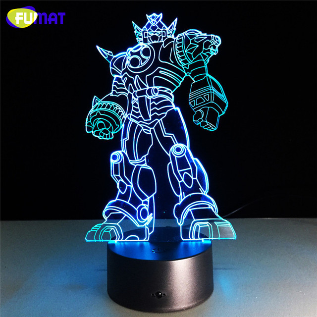 3D Lamp Super Heros Fighter Night Light Bedside Lights Table Lampara With Changeable Night Light Xmas Halloween Gift