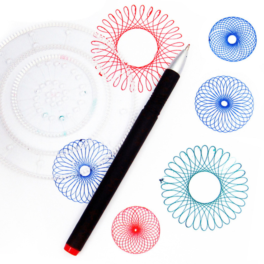 LeadingStar Children Creative Drawing Toys Set Geometric Ruler Student Drafting Tools Gift zk30