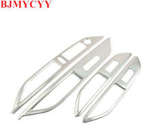 BJMYCYY Car Styling Fit For 2017 Peugeot 3008 Accessories Door Window Lifter Protection Chrome Trim Strip Interior Stickers