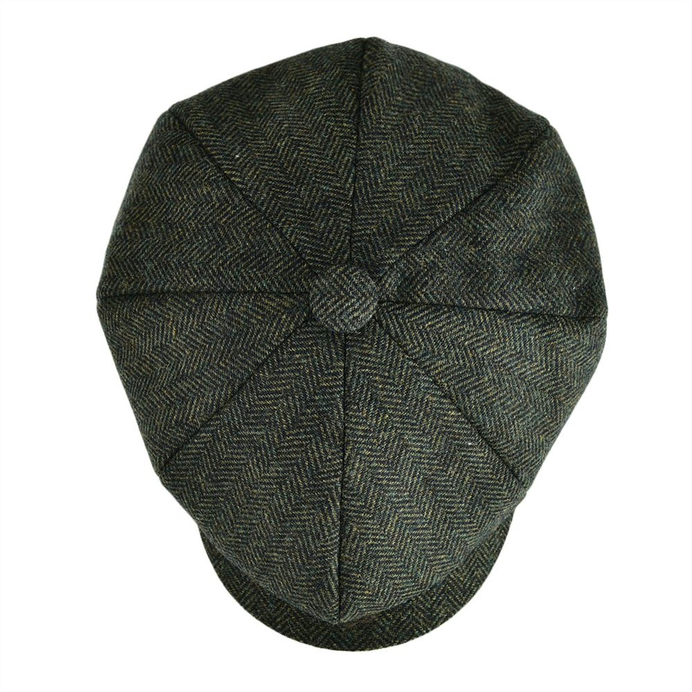 d0415b41adb VOBOOM Wool Blend Tweed Newsboy Cap Men Apple Caps Women Herringbone  Striped Ivy Flat Hat Autumn ...