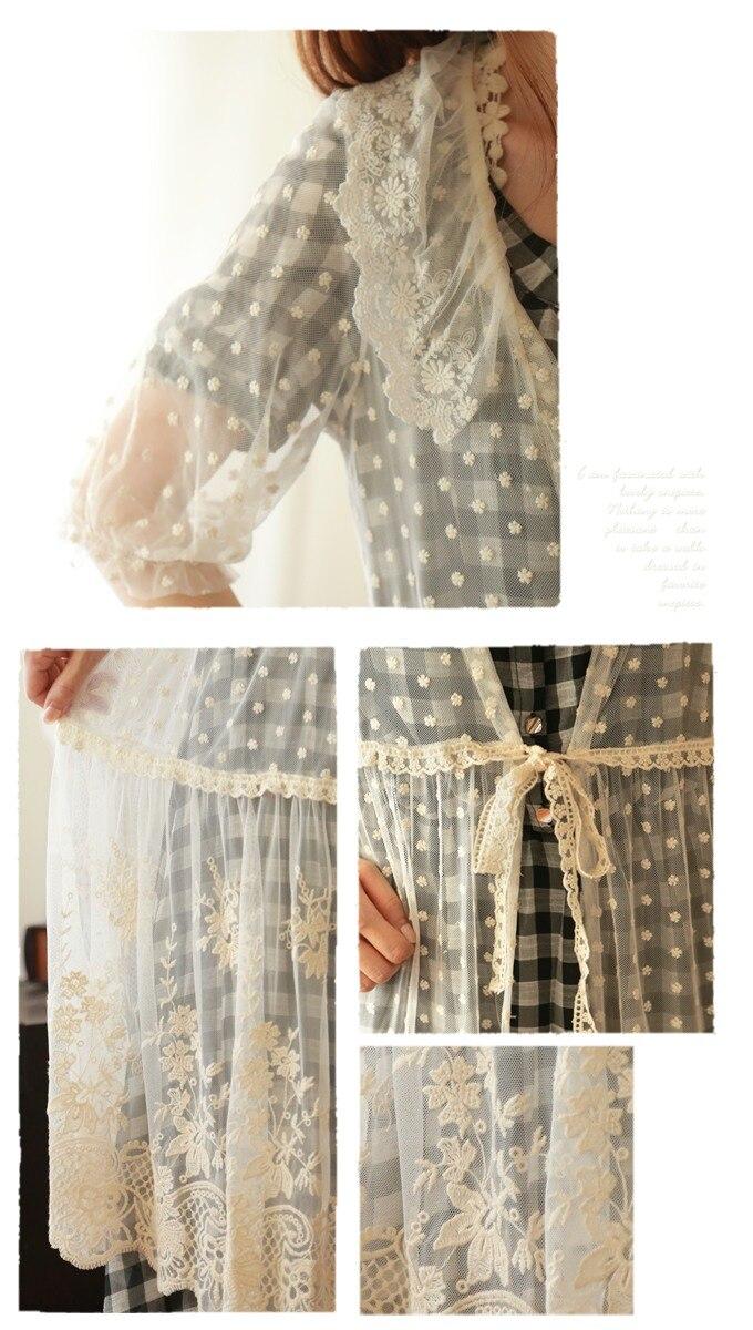 Kimono Linge Femmes De Féminin Vetements Automne Coton Boho Cardigan Dentelle Vintage Japonais Blouse Tunique Broderie Hippie nwPk0O