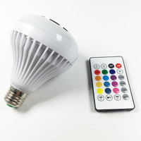 E27 RGBW RGB Bulb Music Playing Smart Wireless Bluetooth Speaker Dimmable LED Bulb Light Lamp With