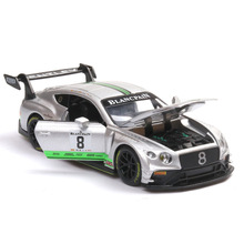 GT3 Race Car Alloy Model Simulation Bentley Diecasts Toy Vehicles Miniature Boy Mens Collection Luxury Gift