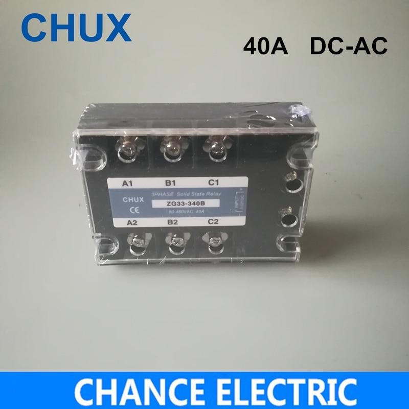40A DC Control AC relé de estado sólido trifásico SSR 40A (ZG33-40DA) SSR 40DA relé de estado sólido DC-AC