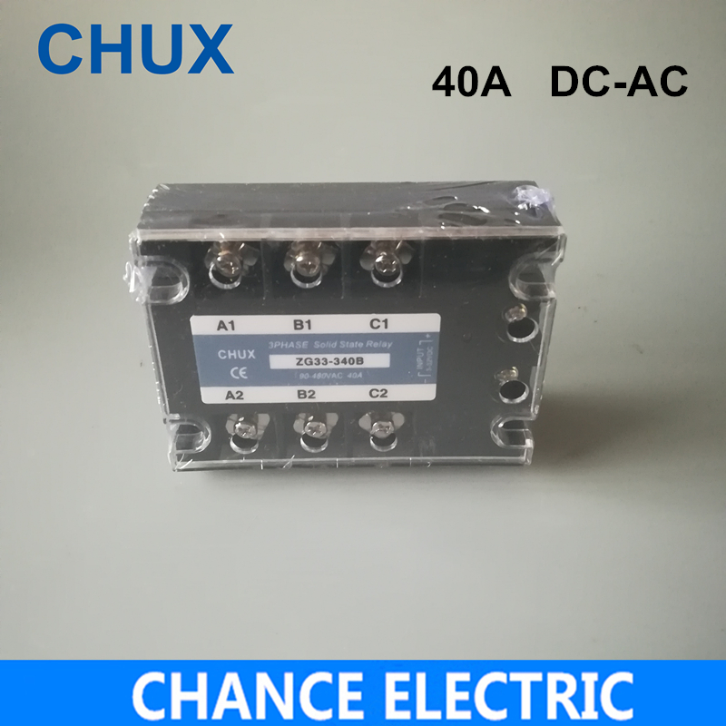 цена на 40A DC control AC three phase Solid state relay SSR 40A (ZG33-40DA)