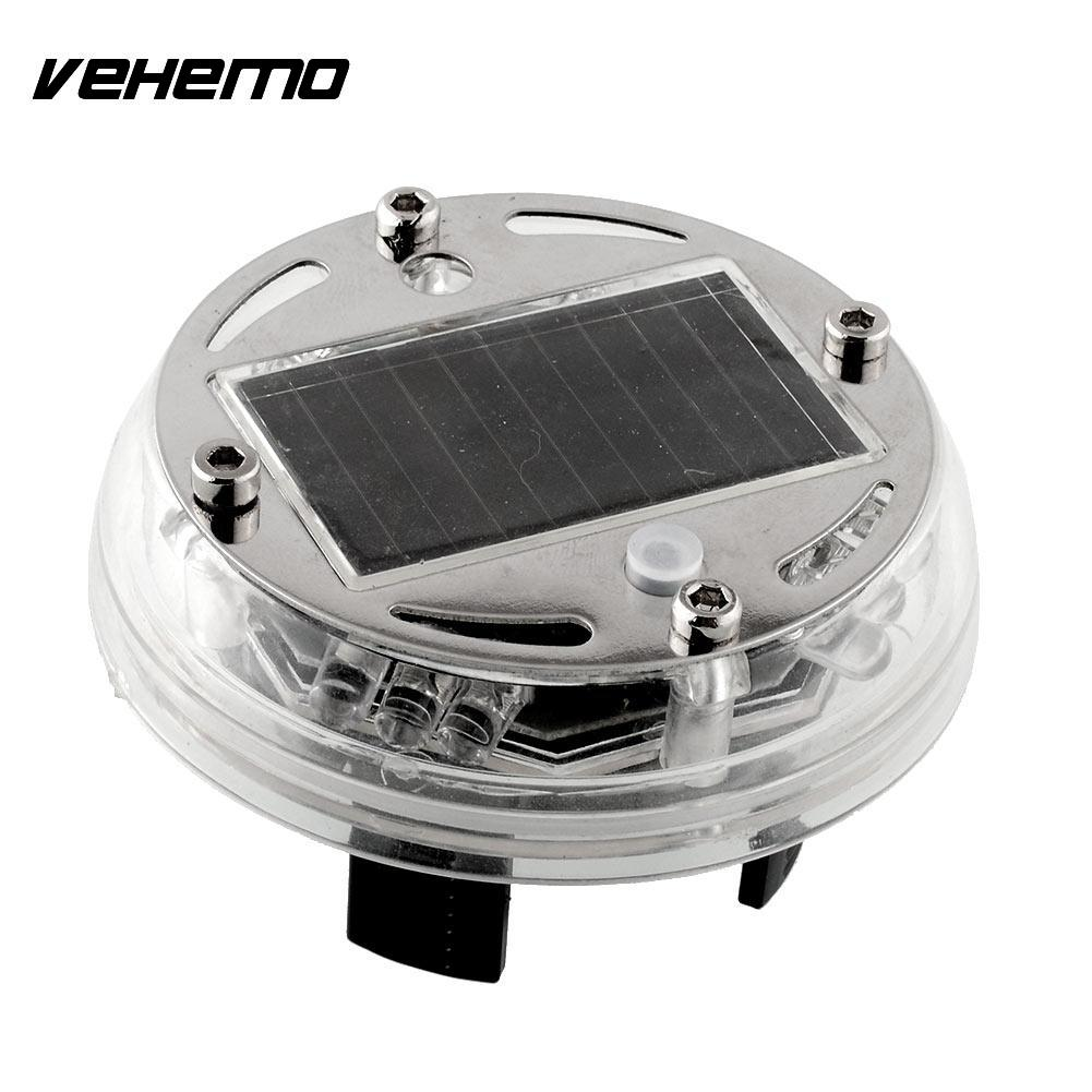 все цены на Vehemo 4 Mode 12 LED Fashion Attractive Car Auto Solar Power Saving Flash Color Wheel Light Decoration NEW онлайн