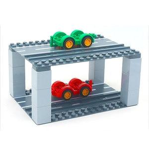 Image 5 - Duploed büyük tuğla büyük parçacık alt plaka 512 nokta 16*32 nokta 51*25.5cm yapı taşları taban plakası oyuncaklar çocuklar için