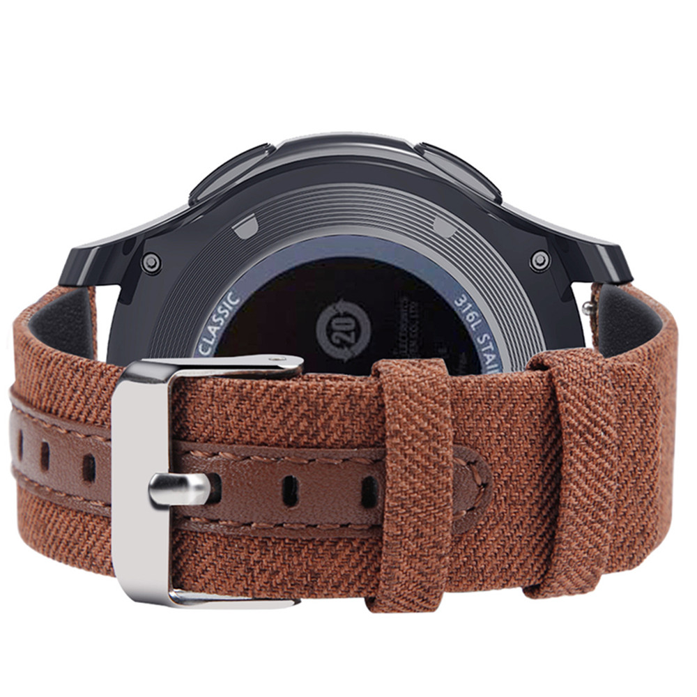 OSRUI Nylon Leather Strap for Samsung Galaxy Watch 46mm Gear s3 frontier classic 22mm watch Band Canvas Wrist Belt amazfit in Watchbands from Watches