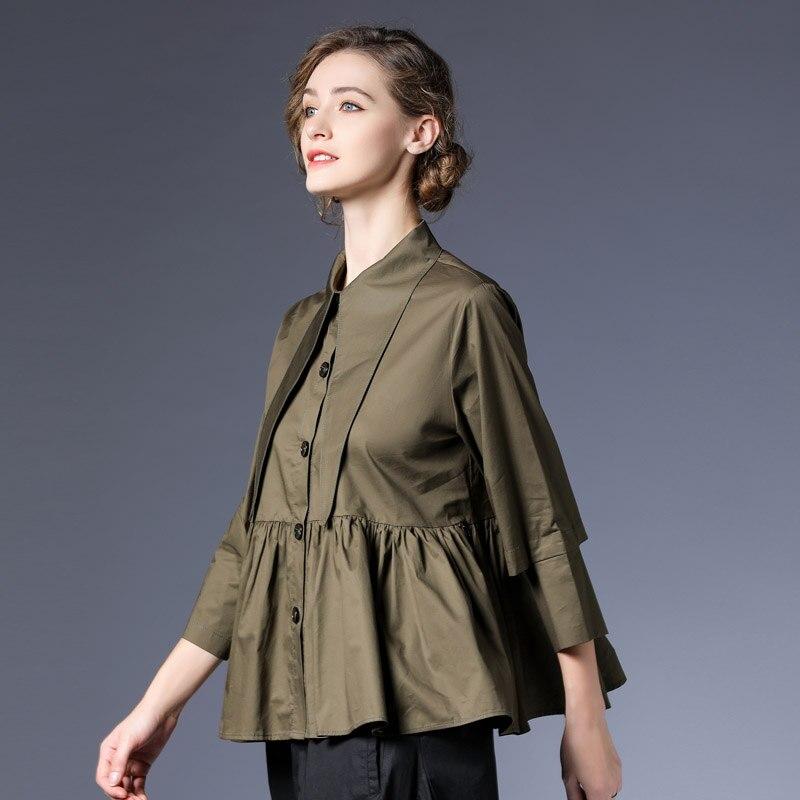 2019 printemps été nouveau lâche vêtements décontractés Vintage chemise et Blouses femme chemise Blouse femmes grande taille hauts Blusa Mujer QH013
