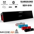 Sdy-019 sardine hifi speaker portátil bluetooth 10 w usb amplificador de rádio fm sem fio caixa de som estéreo com microfone sdy019 nizhi